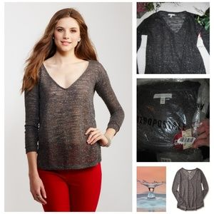NEW AEROPOSTALE BLACK SHIMMER SWEATER S,M OR L